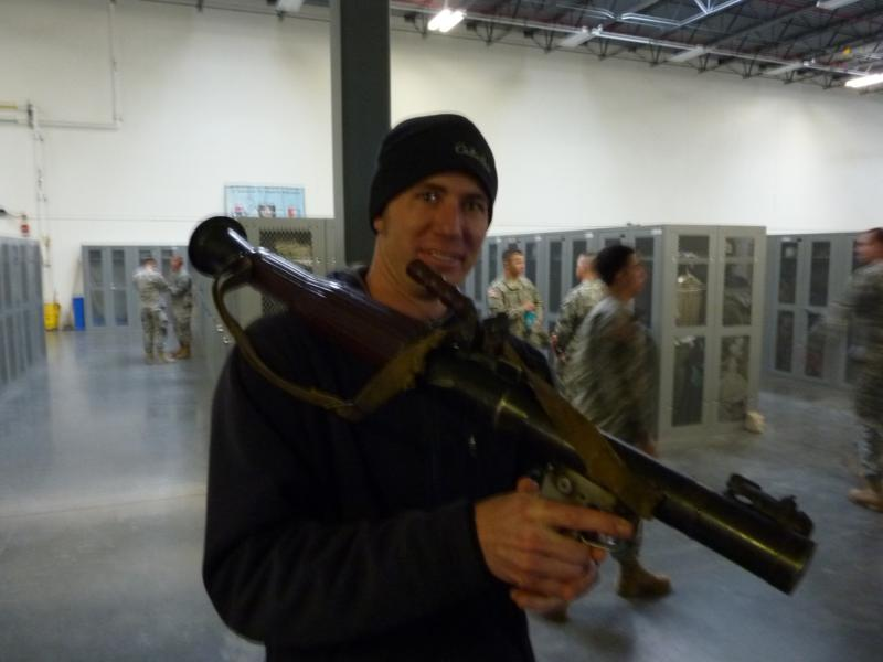 Jesse with RPG launcher